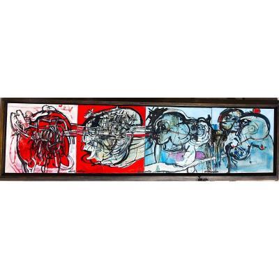 Tableau Abstrait Aspremont 1985