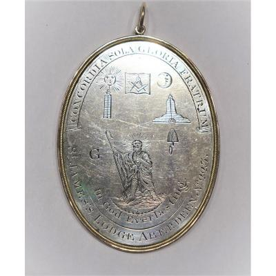 FRANC MACONNERIE, Grande Plaque de récompense 1810
