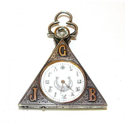 Masonic Watch In Silver  End 19th.