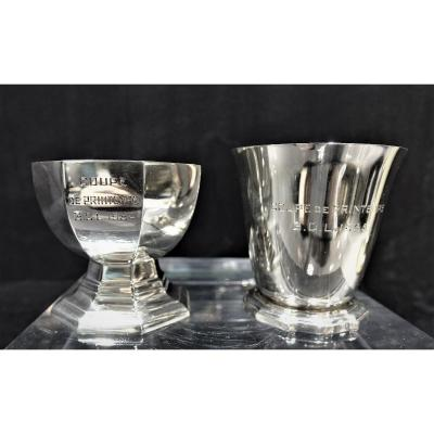 Two Golf Cups In Silver 1954 & 1955