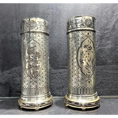 Christofle Pair Of Vases 1875