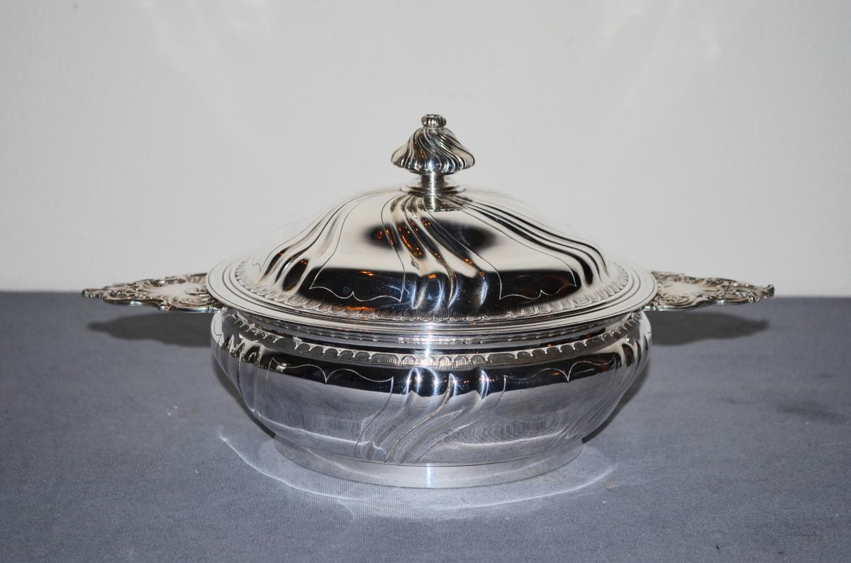 Vegetable In Sterling Silver Boin-taburet 19th Century