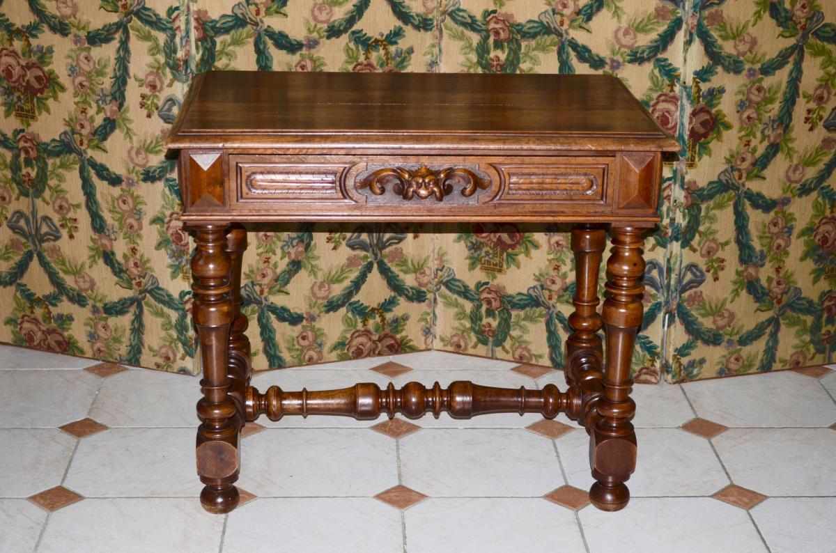 Table/bureau   En Noyer époque 19eme Siècle