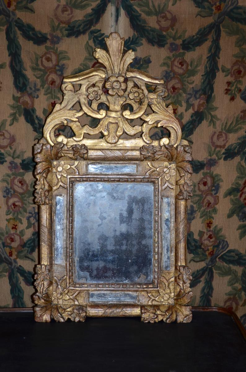 Mirror In Golden Wood Of Louis XIV
