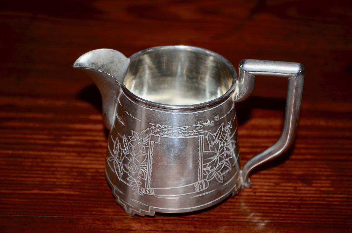Milk Jar In Sterling Silver Russian End 19th Century