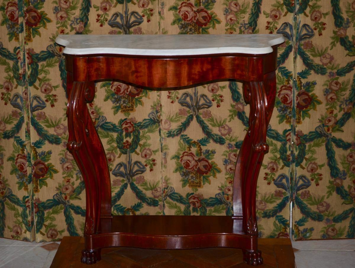 Console Mahogany Napoleon III