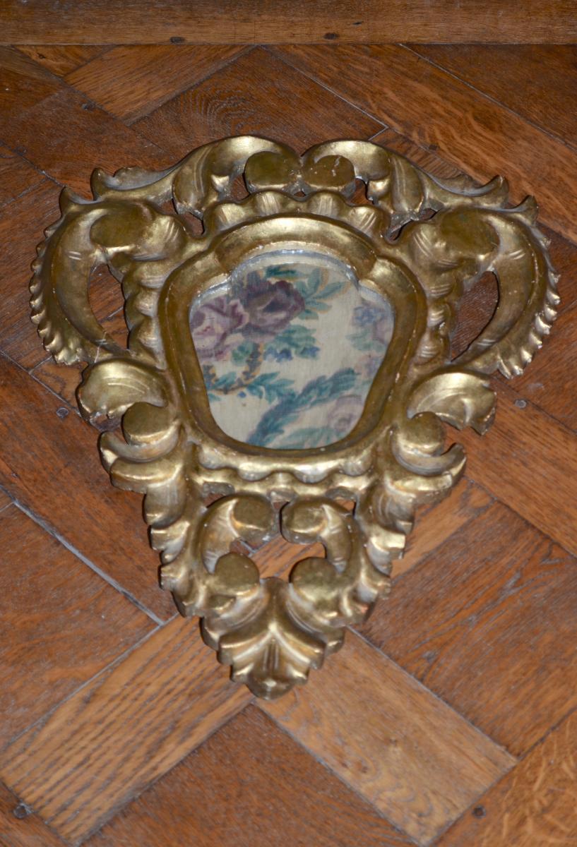 Paire De Miroirs En Bois Doré XIXème Siècle