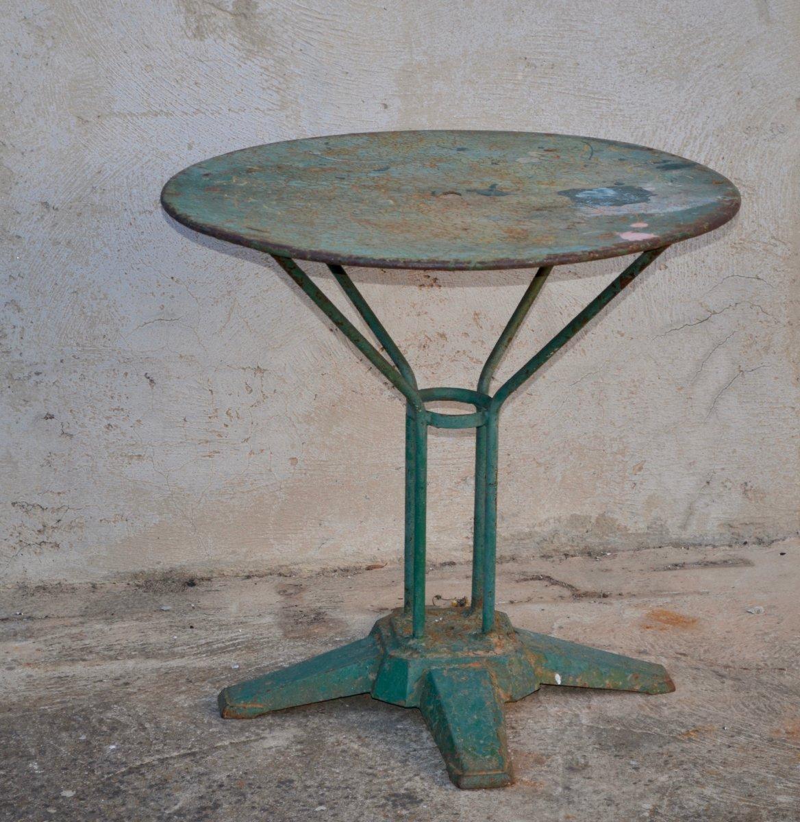 Iron Garden Table Art Deco