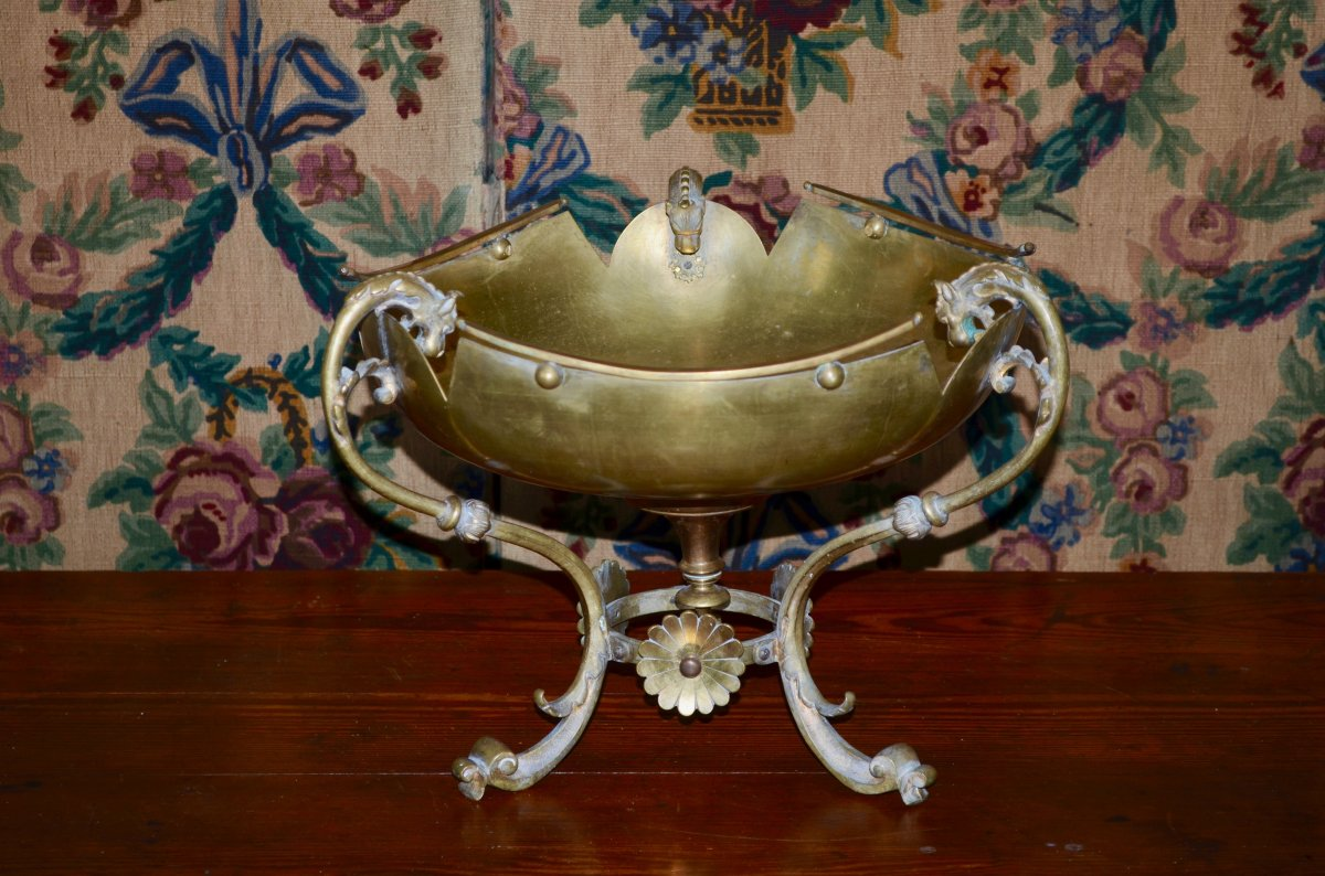 Centre De Table En Bronze Doré Napoléon III