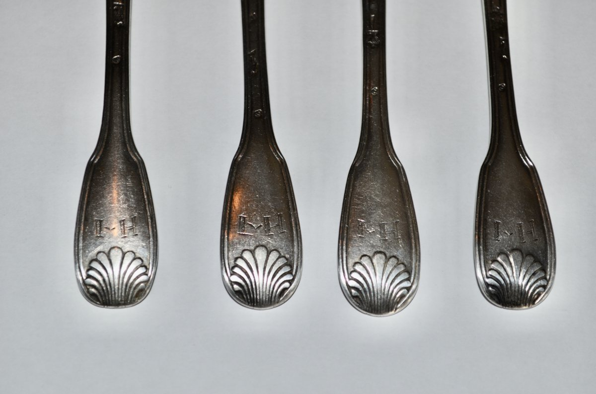 Small Spoons In Sterling Silver 18th Century