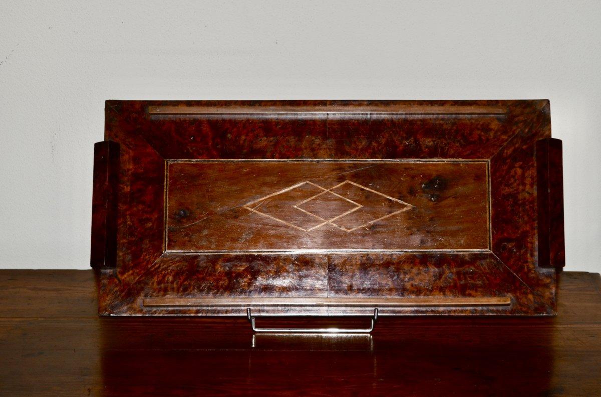 Tray In Burl Of Amboine Art Deco Period