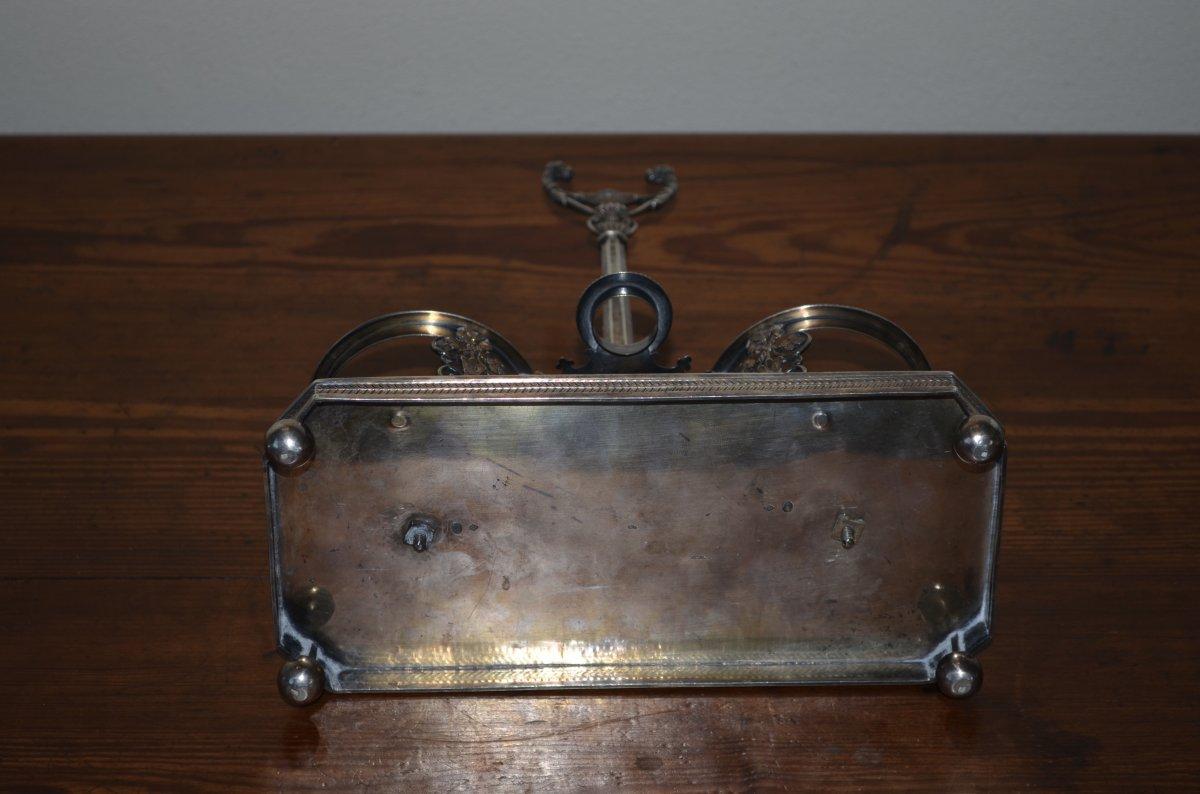 Oil Cruet / Vinegar Plant In Sterling Silver Late 18th Century-photo-4