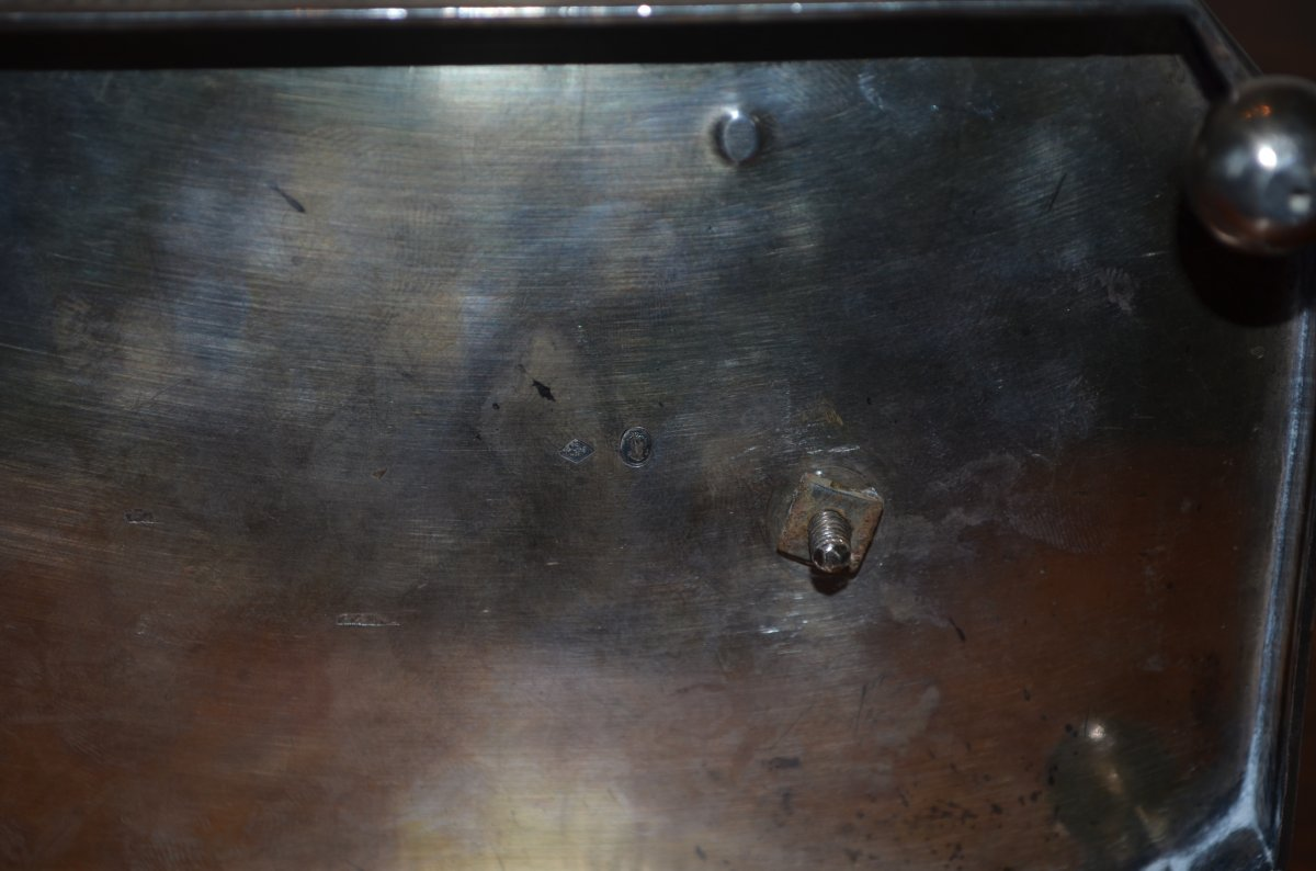 Oil Cruet / Vinegar Plant In Sterling Silver Late 18th Century-photo-5