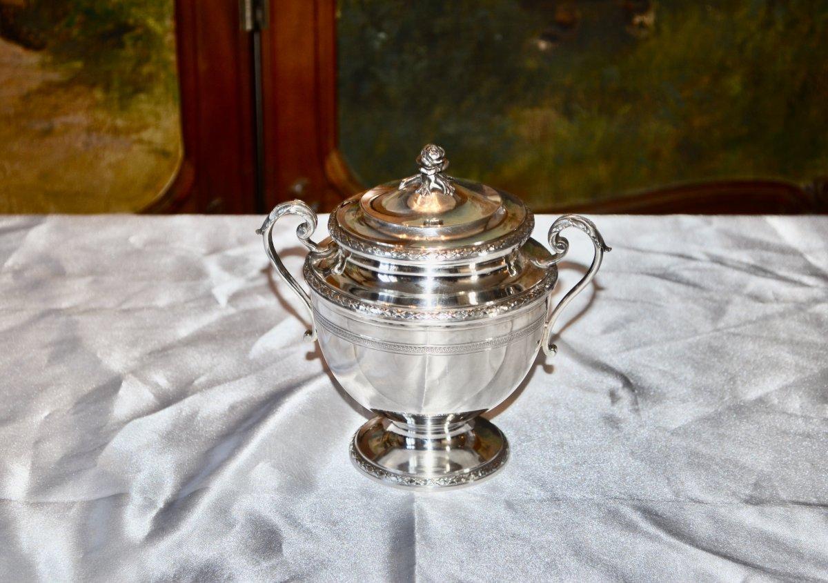 Sugar Bowl In Sterling Silver Art Nouveau