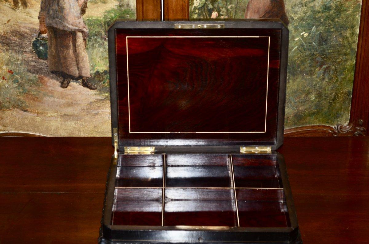 Coffret d'époque Napoléon III Signé Tahan -photo-2