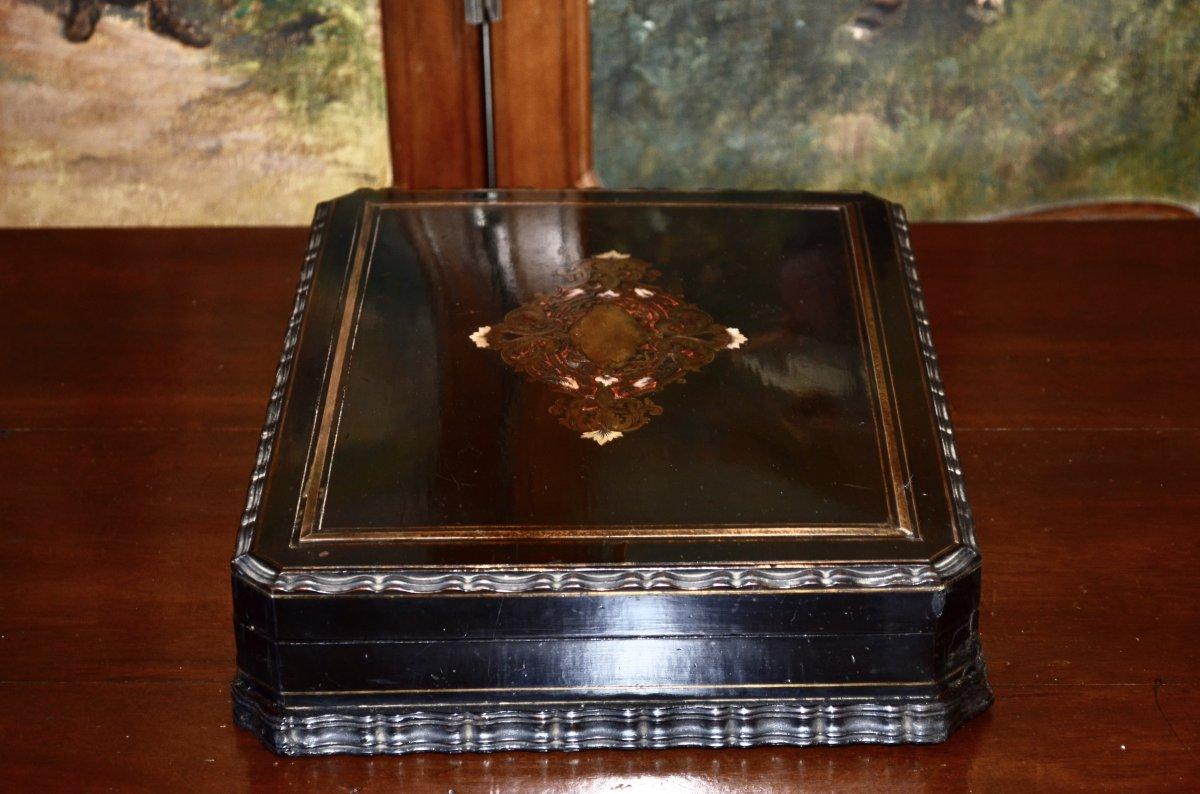 Coffret d'époque Napoléon III Signé Tahan -photo-4