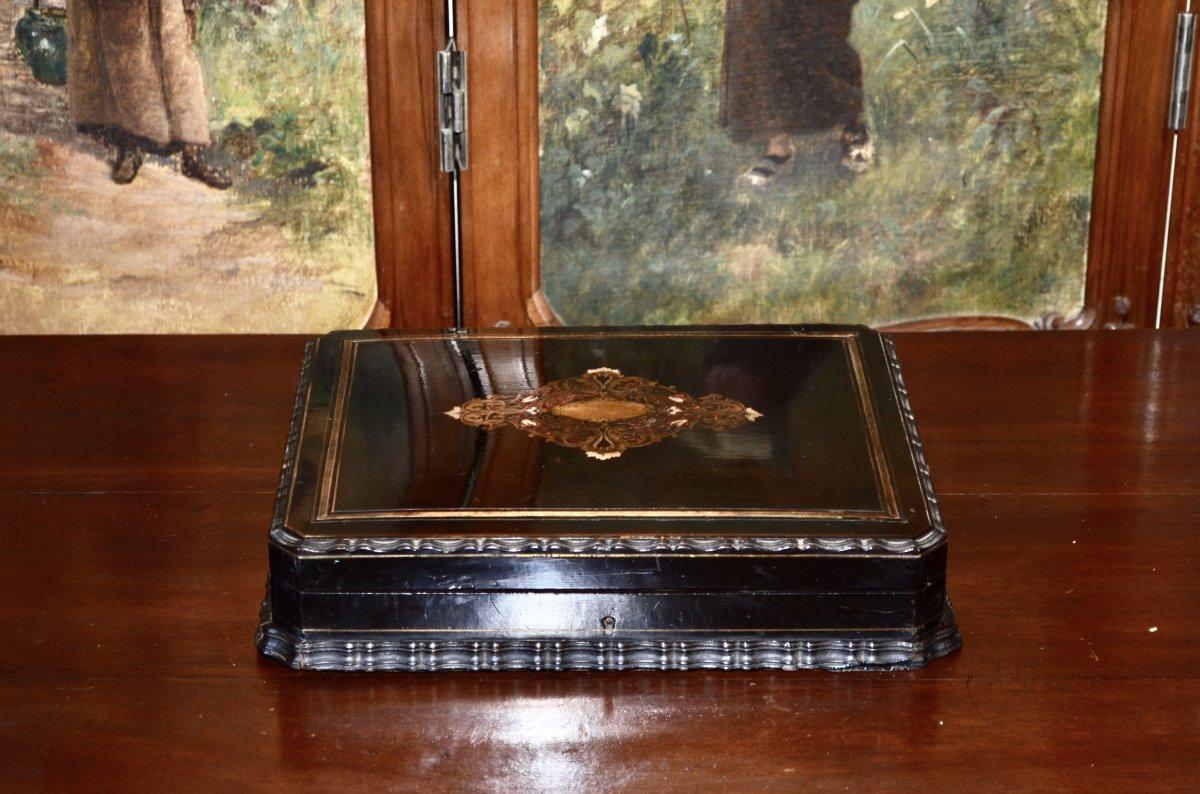 Coffret d'époque Napoléon III Signé Tahan -photo-7