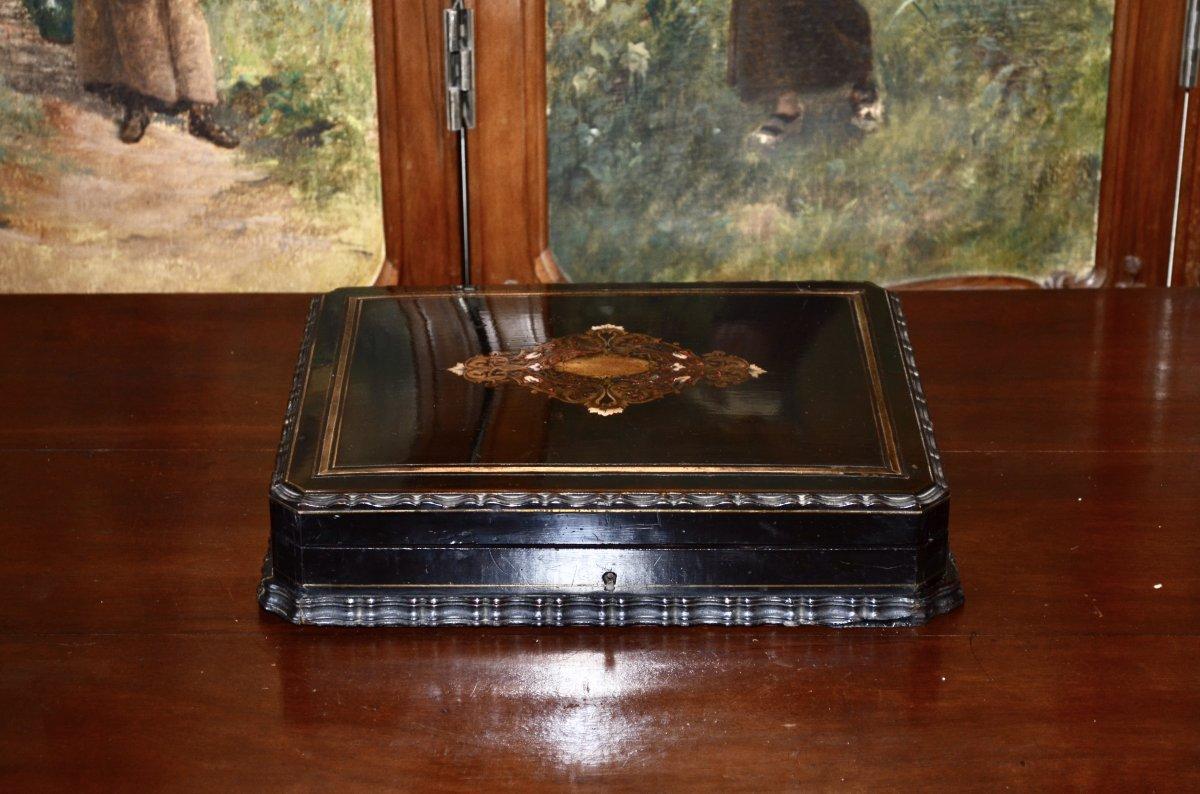 Coffret d'époque Napoléon III Signé Tahan -photo-8