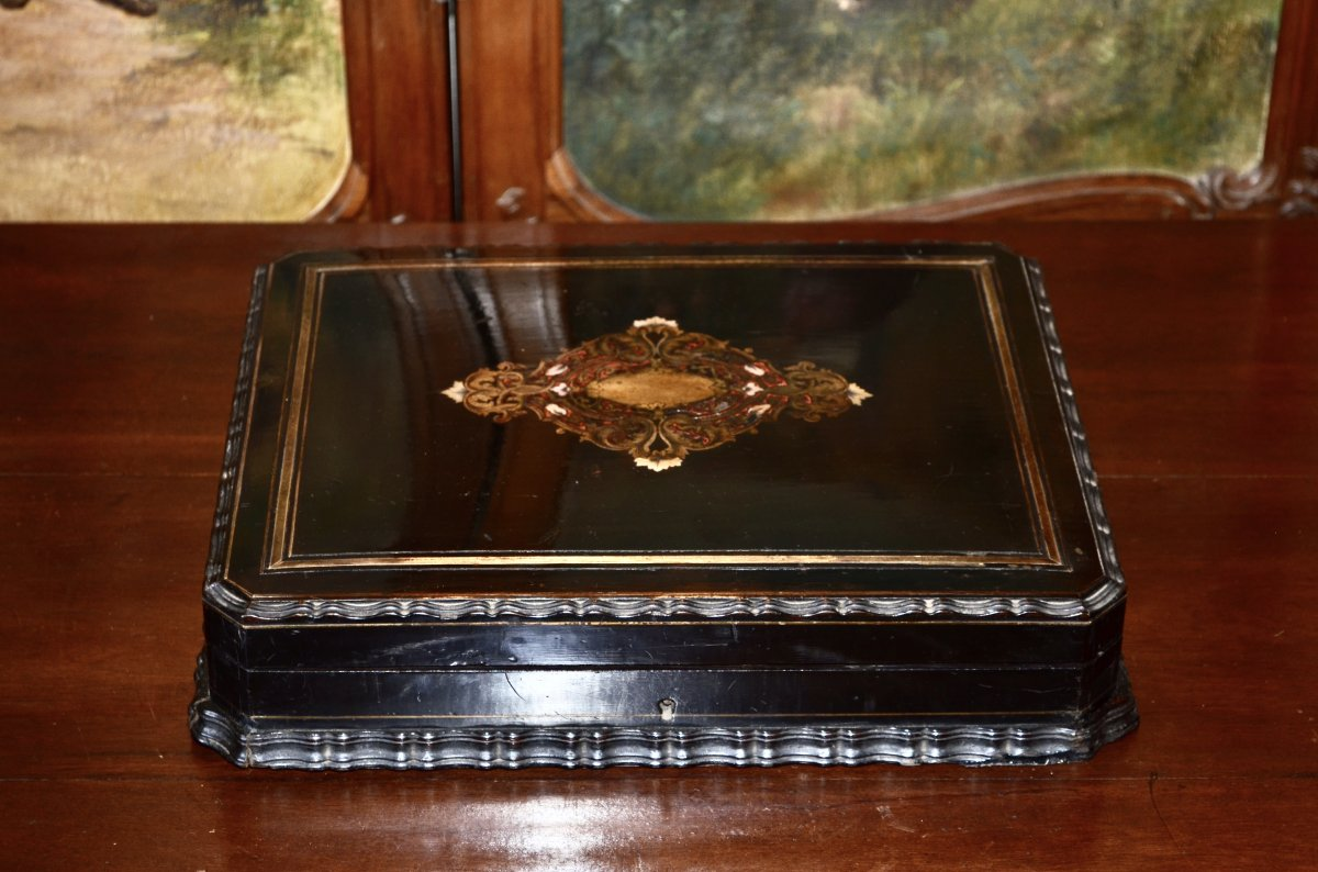 Coffret d'époque Napoléon III Signé Tahan