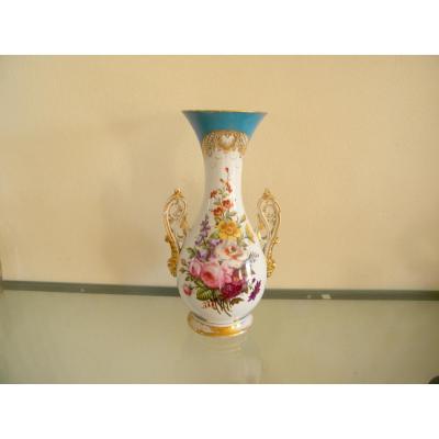 Vase En Porcelaine Vieux Paris