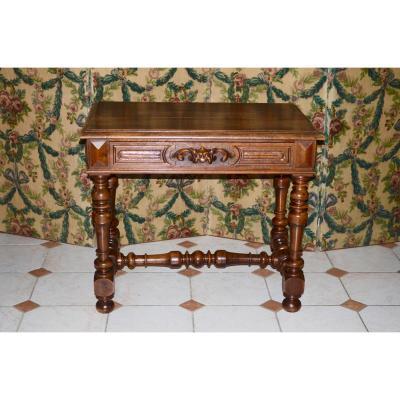 Table / Desk In Walnut 19th Century