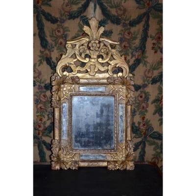 Miroir En Bois Doré d'époque louis XIV