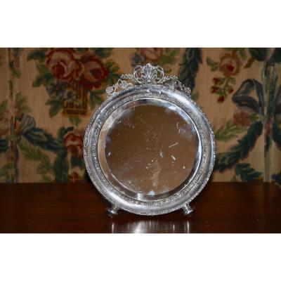 Sterling Silver Table Mirror England XIXth Century