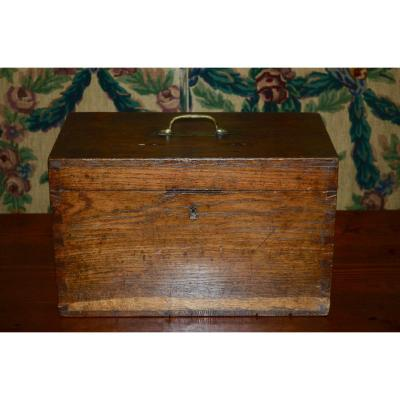 Small Chest Of Travel In Oak XIXth Century
