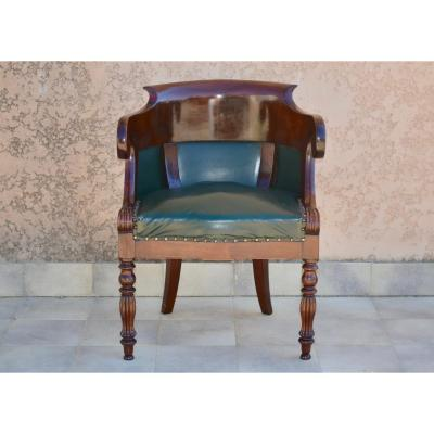 Mahogany Office Chair Early 19th Century
