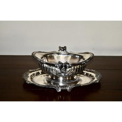 Sauceboat In Sterling Silver XIXth Century