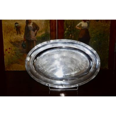 Large Flat In Sterling Silver From Cardeilhac Late 19th Century