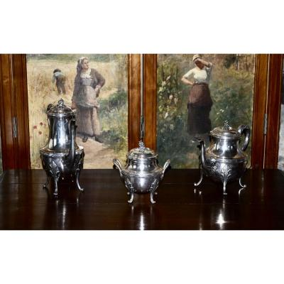 Puiforcat Sterling Silver Coffee Service
