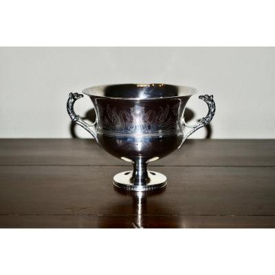Wedding Cup In Sterling Silver Late 18th Century