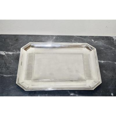 Solid Silver Tray By Odiot