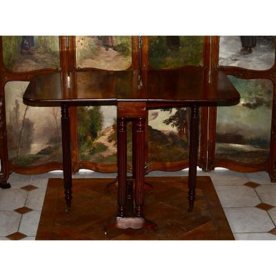 Table Gateleg En Acajou  époque 19eme Siècle
