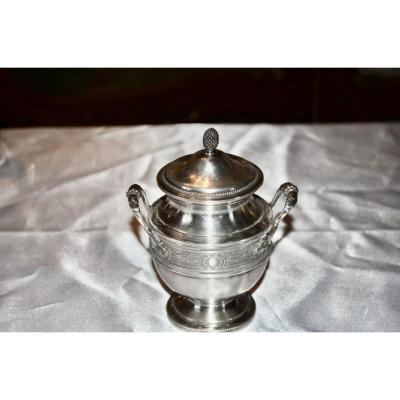 Sterling Silver Pot 19th Century