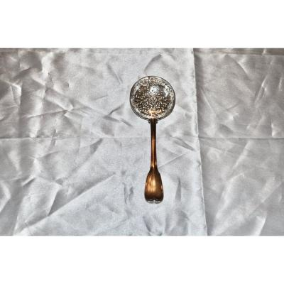 18th Century Sterling Silver Dusting Spoon