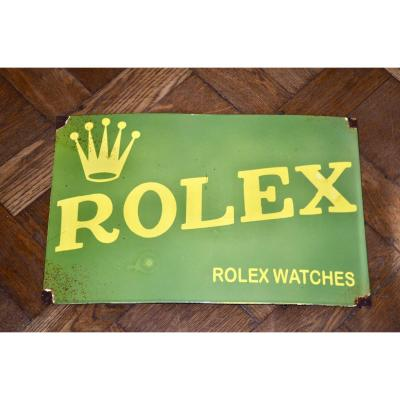 Rolex Enamel Sign
