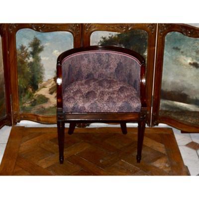 Art Deco Mahogany Child Armchair
