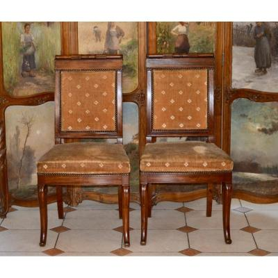 Pair Of Empire Mahogany Chairs