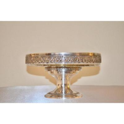 Biscuit Cup In Sterling Silver And Crystal Napoleon III