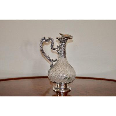 Ewer In Sterling Silver End XIXth Century