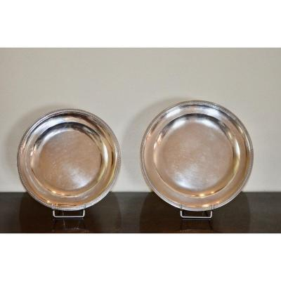 Pair Of Nesting Dishes In Sterling Silver Late 18th Century