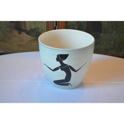 Paul Milet  Cache-pot En Céramique Art Deco
