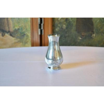 Vase En Argent Massif époque Art Nouveau