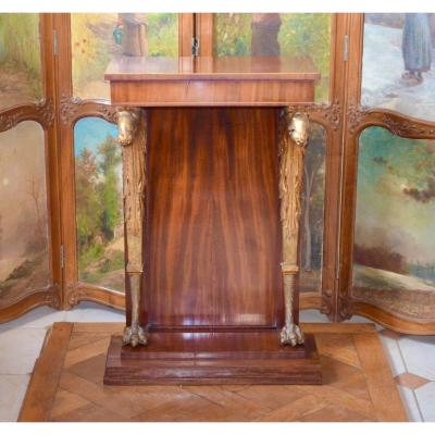 Console In Mahogany And Golden Wood Early 19th Century