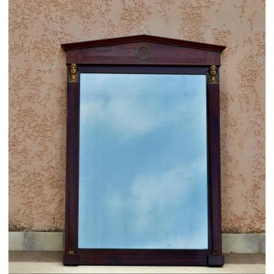 Large Empire Style Mirror Late 19th Century