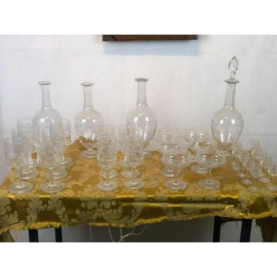 Early-20th Complete  Baccarat Crystal Service