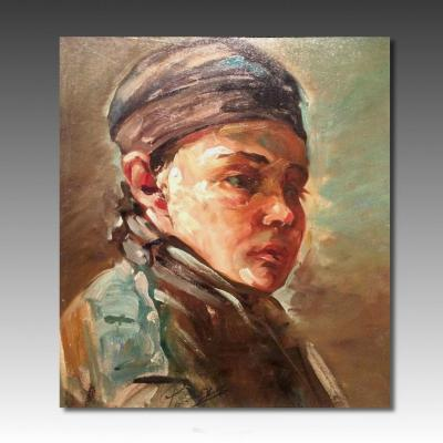 Painting Signed By Giuseppe Ponga, Portrait Of A Fisherman