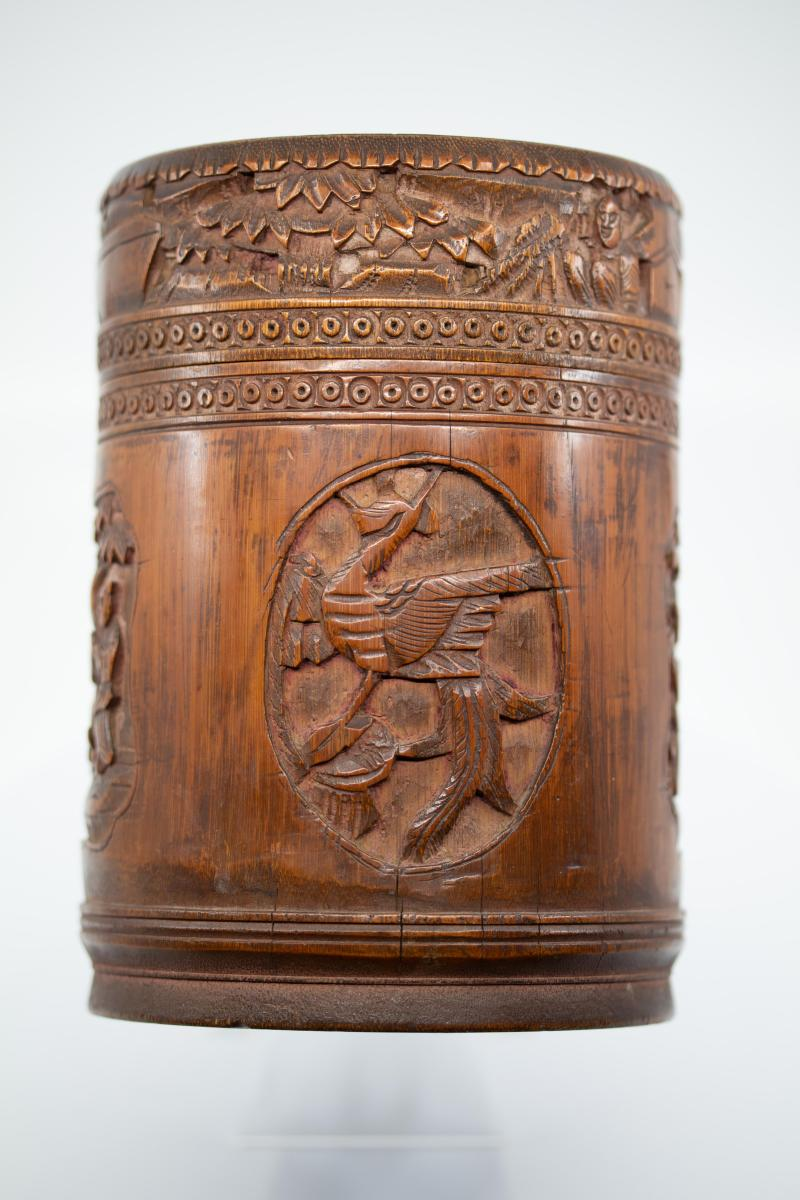 Cylindrical Box With Its Lid - China, 19th Century